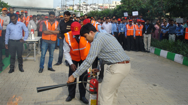 Fire Training Given to Company Employees