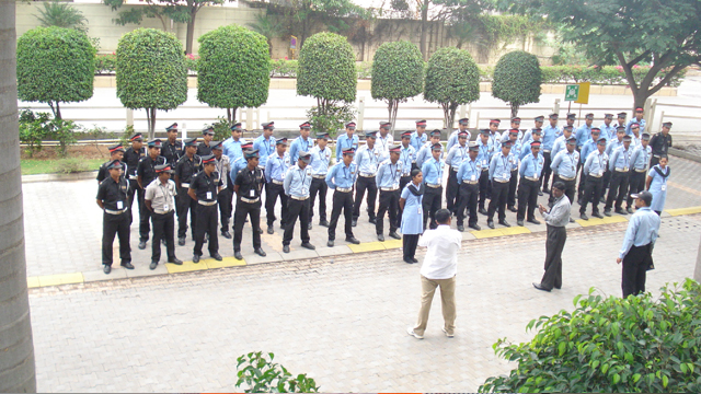 Weekly Instruction Parade Conducted by Training Officer